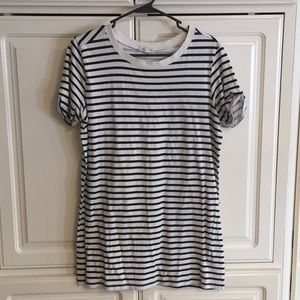 Silence and noise striped tshirt dress